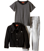 7 For All Mankind Kids - The Standard Denim Jeans, T-Shirt and Denim Jacket (Toddler)