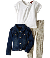 7 For All Mankind Kids - Stretch Twill Jeans, Denim Jacket and Slub T-Shirt (Toddler)