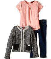 7 For All Mankind Kids - The Skinny Stretch Jeans, Slub T-Shirt and French Terry Jacket (Toddler)