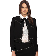 The Kooples - Short Jacket with Stud Leather Ribbon Details