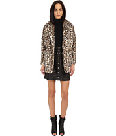 The Kooples - Fake Fur Leopard Print Coat