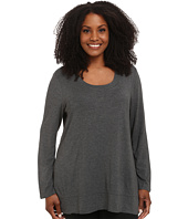Lysse - Plus Size Scoop Drape Top