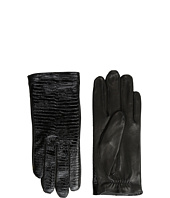 The Kooples - Lizard Embossed Patent Leather Gloves