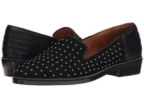The Kooples Suede Slippers Decorated with Studs - Black