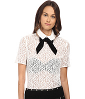 The Kooples - Lace Top with Velvet Bow