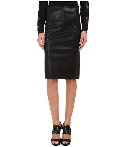 The Kooples Straight Skirt in False Stretch Leather