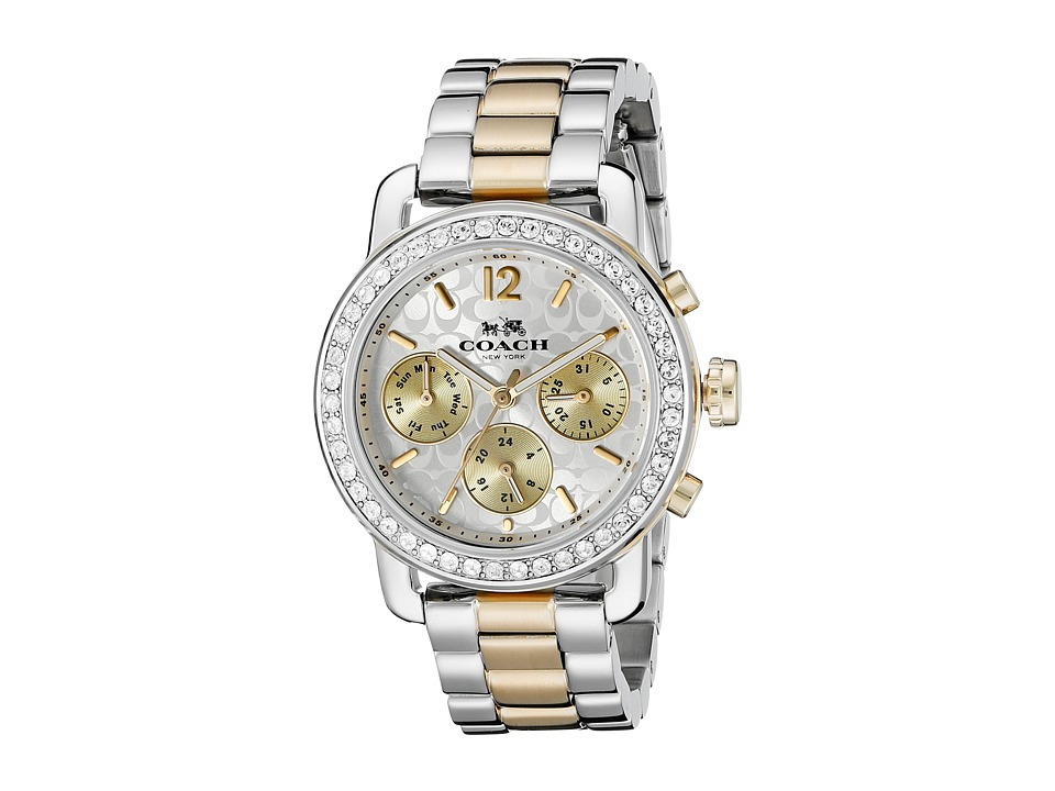 COACH - Legacy Sport 36mm Bracelet Watch (Silver/Stainless Steel/Gold Plated) Watches