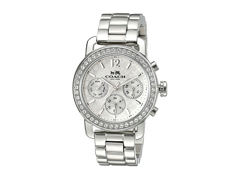 COACH Legacy Sport 36mm Bracelet Watch - Silver/Stainless Steel