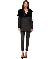 The Kooples - Bonded Fancy Leather & Shearling Fur Jacket