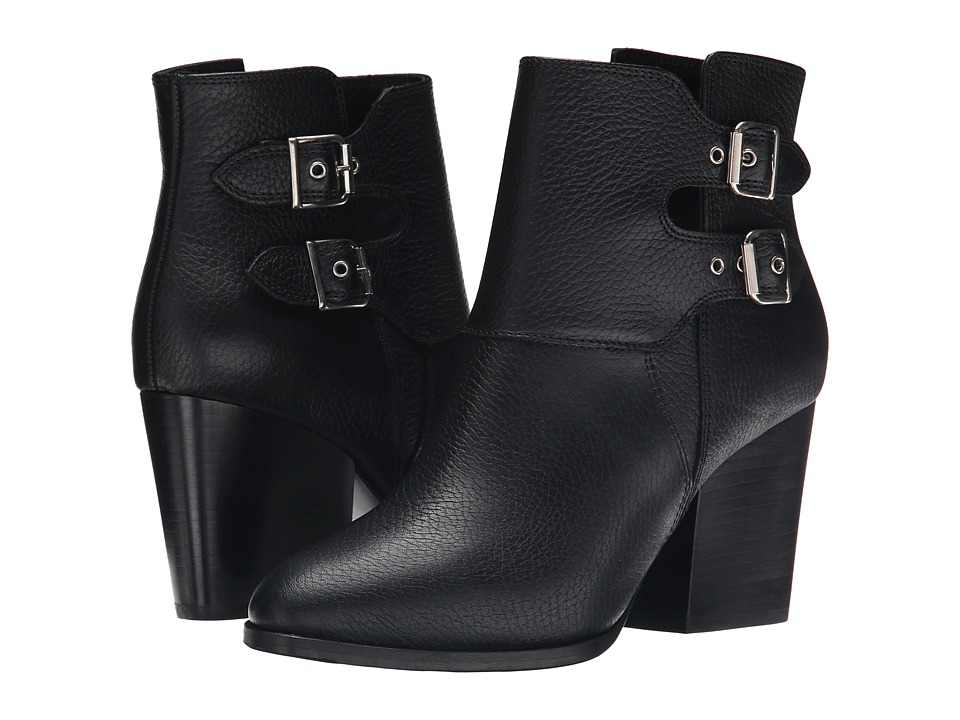 The Kooples - Grained Embossed Leather (Black) Women