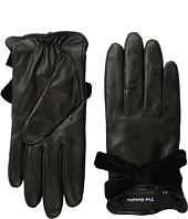 The Kooples - Smooth Leather & Velvet Gloves