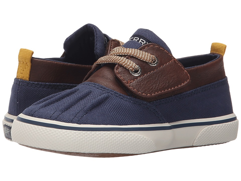 Sperry Top-Sider Kids - Declan Jr. (Toddler/Little Kid) (Brown/Navy) Boys Shoes