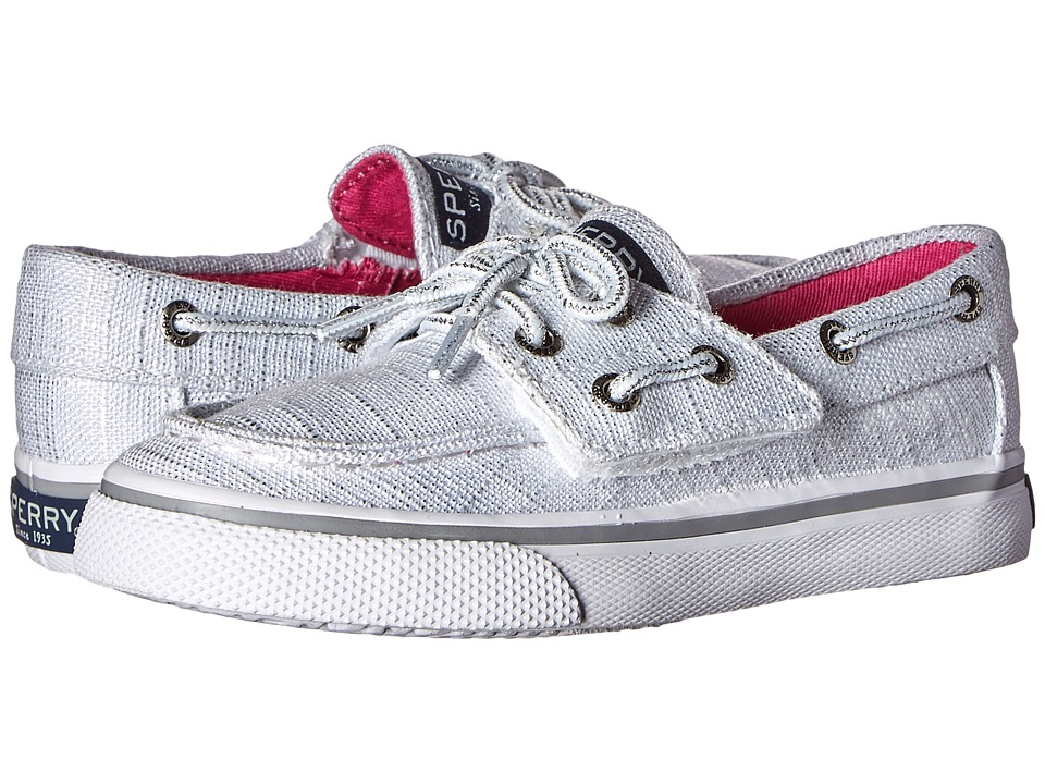 Sperry Top Sider Kids Bahama Jr. Toddler/Little Kid White Sparkle Girls Shoes