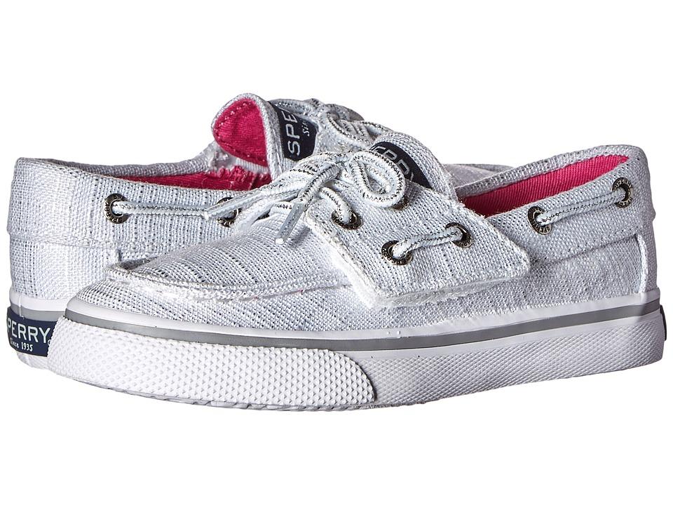 Sperry Top Sider Kids Bahama Jr. Toddler/Little Kid White Sparkle Girls Shoes