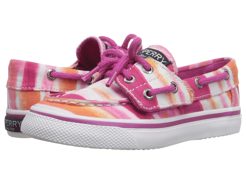 Sperry Top Sider Kids Bahama Jr. Toddler/Little Kid Pink Watercolor Girls Shoes