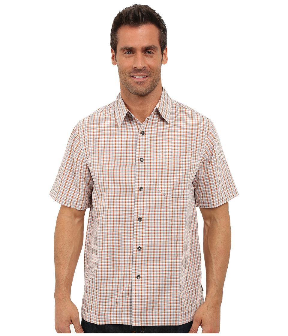 Royal Robbins Desert Pucker Plaid Short Sleeve Shirt Acorn Mens Short Sleeve Button Up