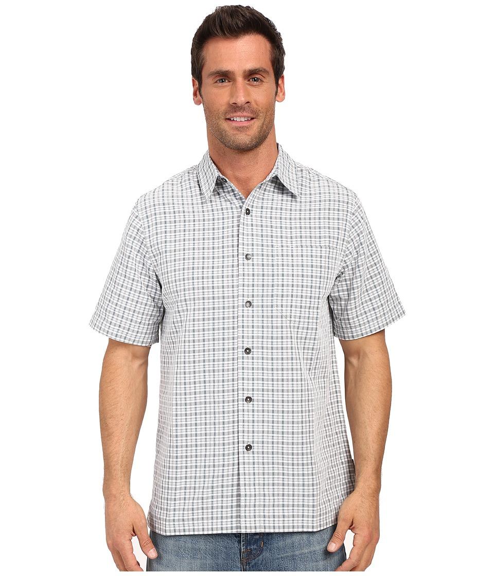 Royal Robbins Desert Pucker Plaid Short Sleeve Shirt Light Pewter Mens Short Sleeve Button Up