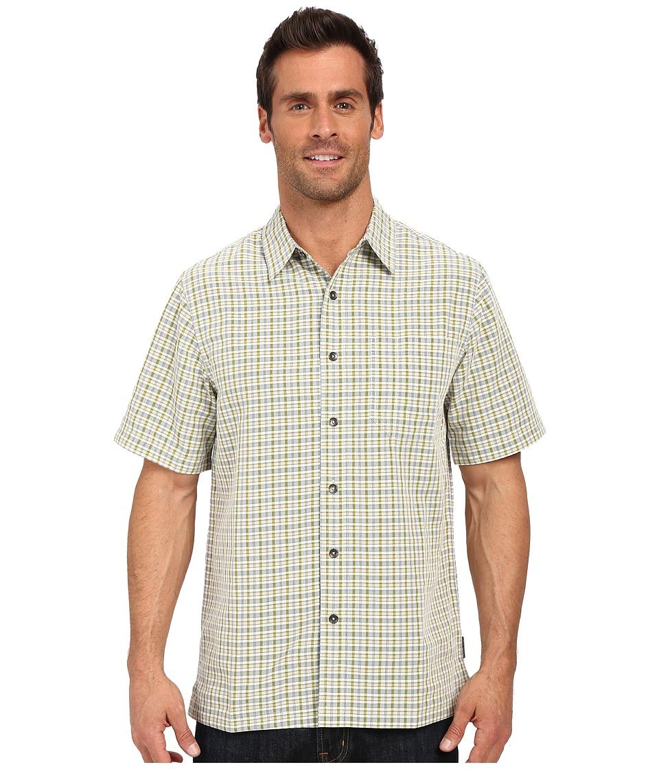 Royal Robbins Desert Pucker Plaid Short Sleeve Shirt Lichen Mens Short Sleeve Button Up