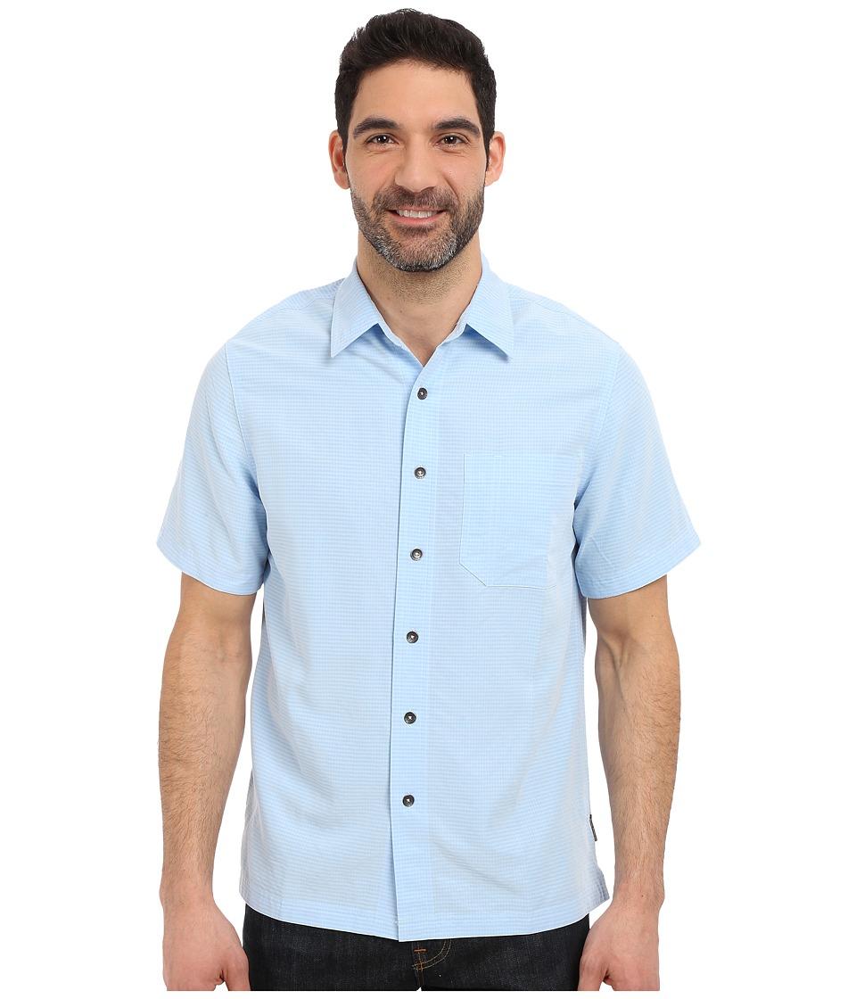 Royal Robbins Desert Pucker S/S Shirt Blue Chill Mens Short Sleeve Button Up
