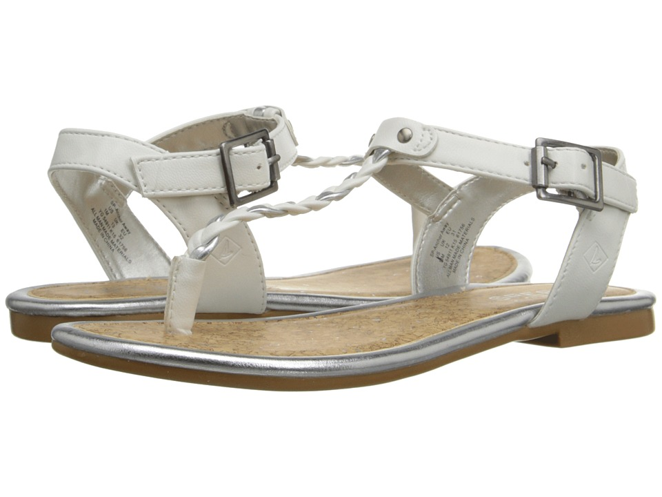 Sperry Top Sider Kids Anchor Away Little Kid/Big Kid White/Silver Girls Shoes