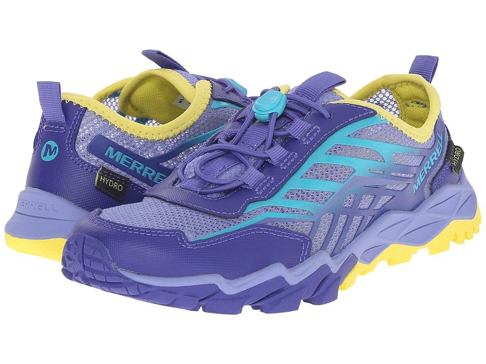 Merrell Kids Hydro Run Little Kid Blue/Turquoise/Yellow Girls Shoes