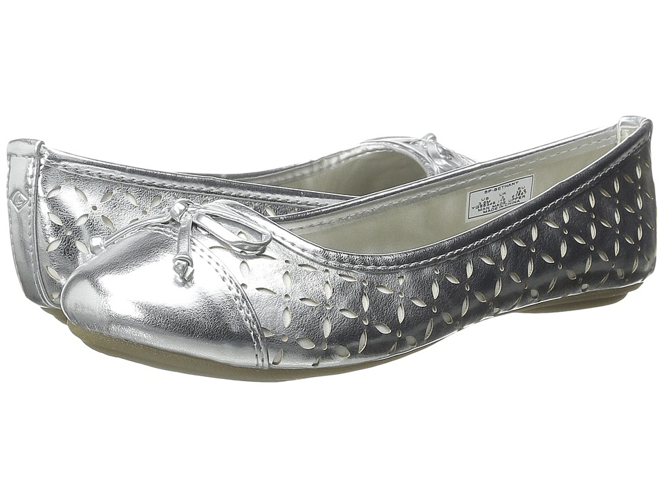 Sperry Top Sider Kids Bethany Toddler/Little Kid/Big Kid Silver/White Girls Shoes