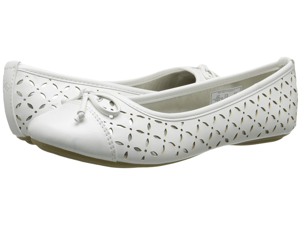 Sperry Top Sider Kids Bethany Toddler/Little Kid/Big Kid White/Silver Girls Shoes