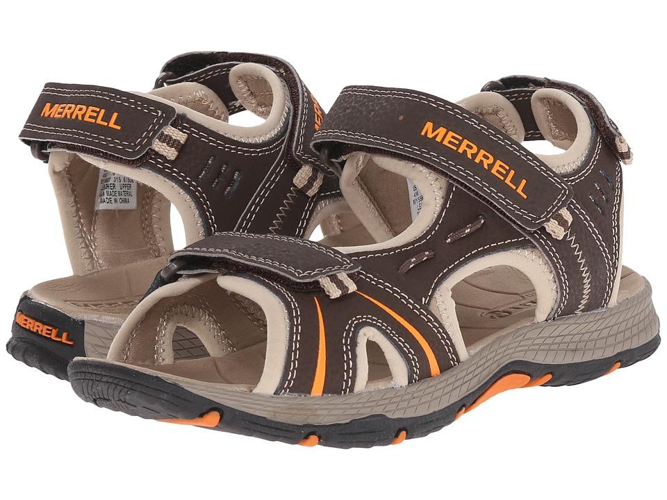 Merrell Kids Panther Big Kid Brown/Black Boys Shoes