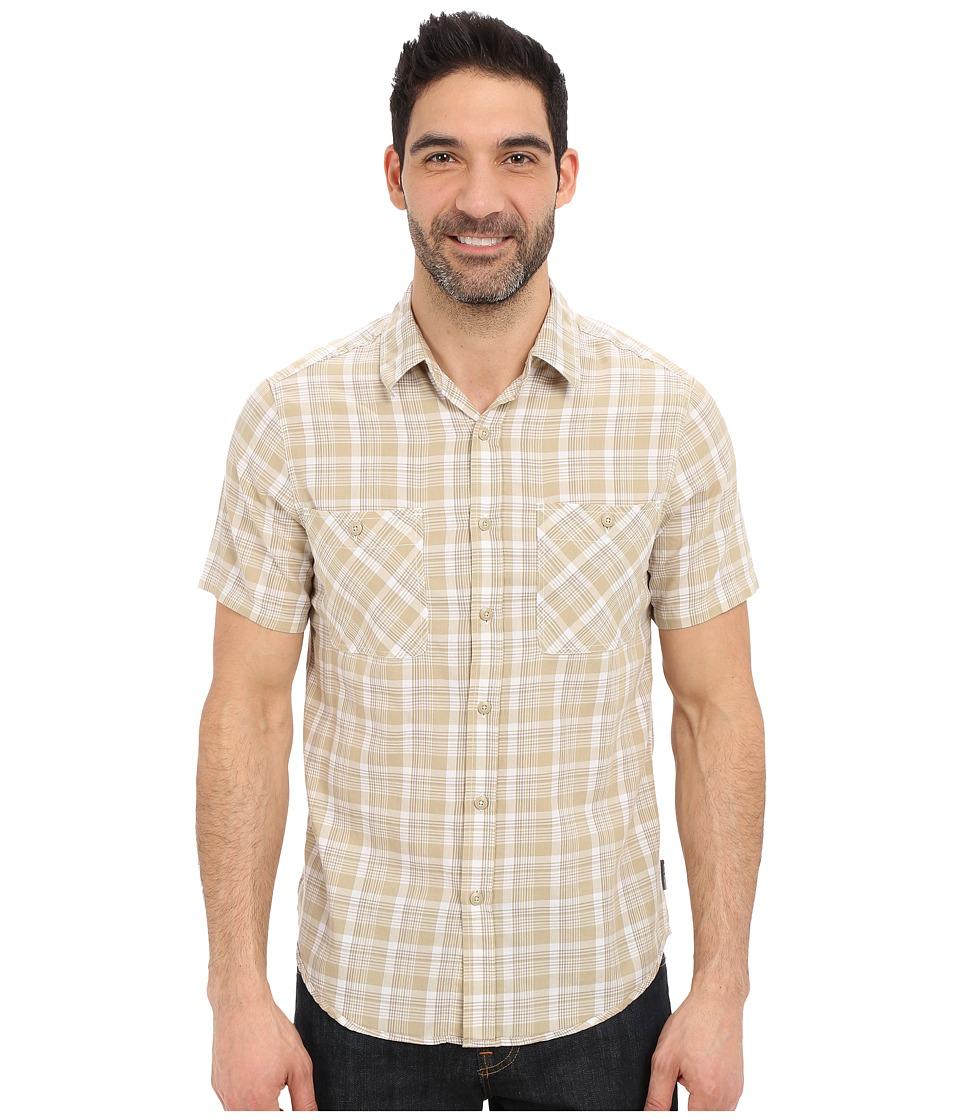 Royal Robbins Biscayne Bay Plaid Short Sleeve Shirt Desert Mens Short Sleeve Button Up