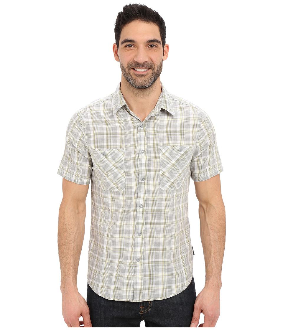 Royal Robbins Biscayne Bay Plaid Short Sleeve Shirt Light Pewter Mens Short Sleeve Button Up