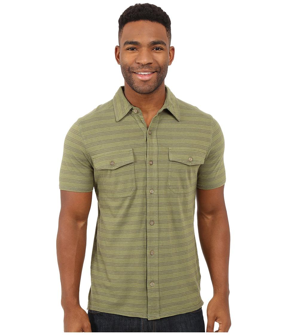Royal Robbins Breeze Thru Stripe Button Front Shirt Aloe Mens Short Sleeve Button Up