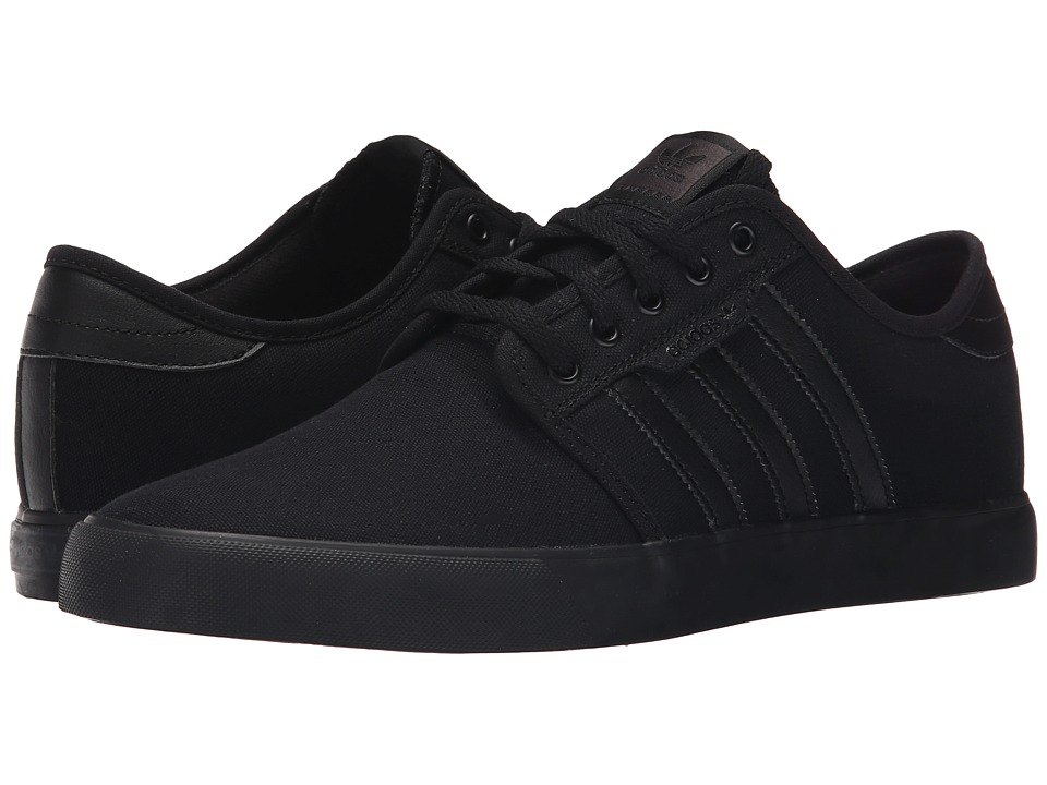 adidas Skateboarding - Seeley (Black/Black/Black) Mens Skate Shoes