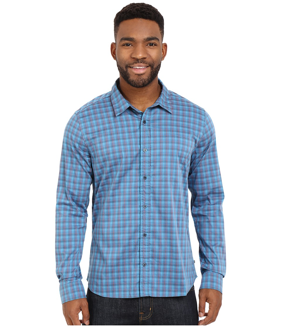 ToadampCo Panorama Long Sleeve Shirt Moody Blue Mens Long Sleeve Button Up