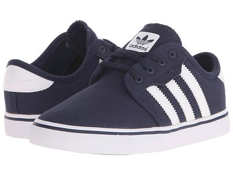 adidas Skateboarding Seeley J (Little Kid/Big Kid) - Collegiate Navy/White/White