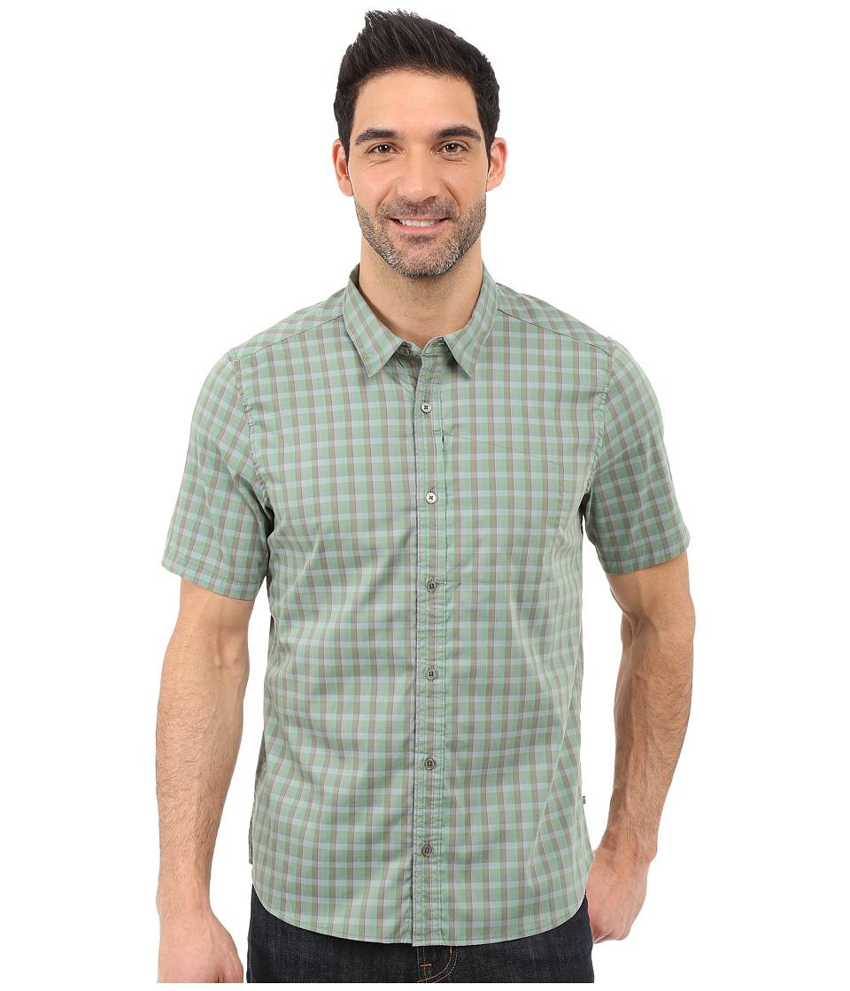 ToadampCo Panorama Short Sleeve Shirt Canoe Green Mens Short Sleeve Button Up