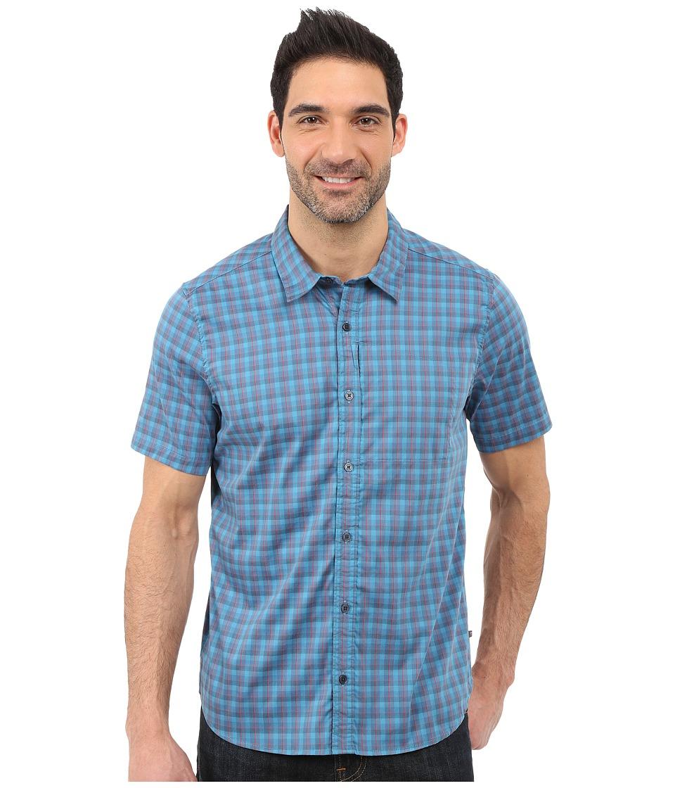 ToadampCo Panorama Short Sleeve Shirt Moody Blue Mens Short Sleeve Button Up