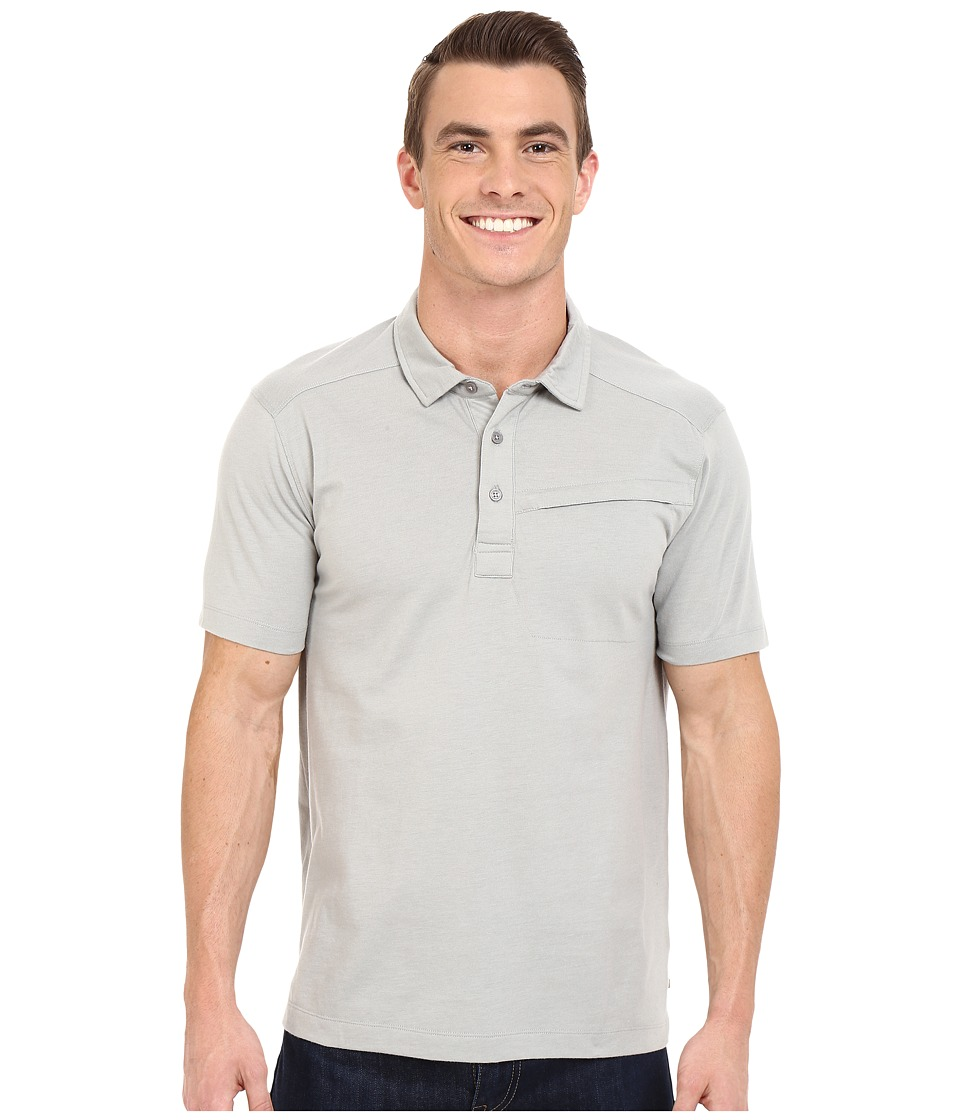 ToadampCo Motile Short Sleeve Polo Shirt Light Ash Mens Short Sleeve Knit