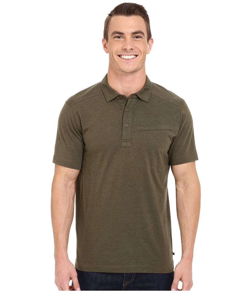 ToadampCo Motile Short Sleeve Polo Shirt Dark Moss Mens Short Sleeve Knit