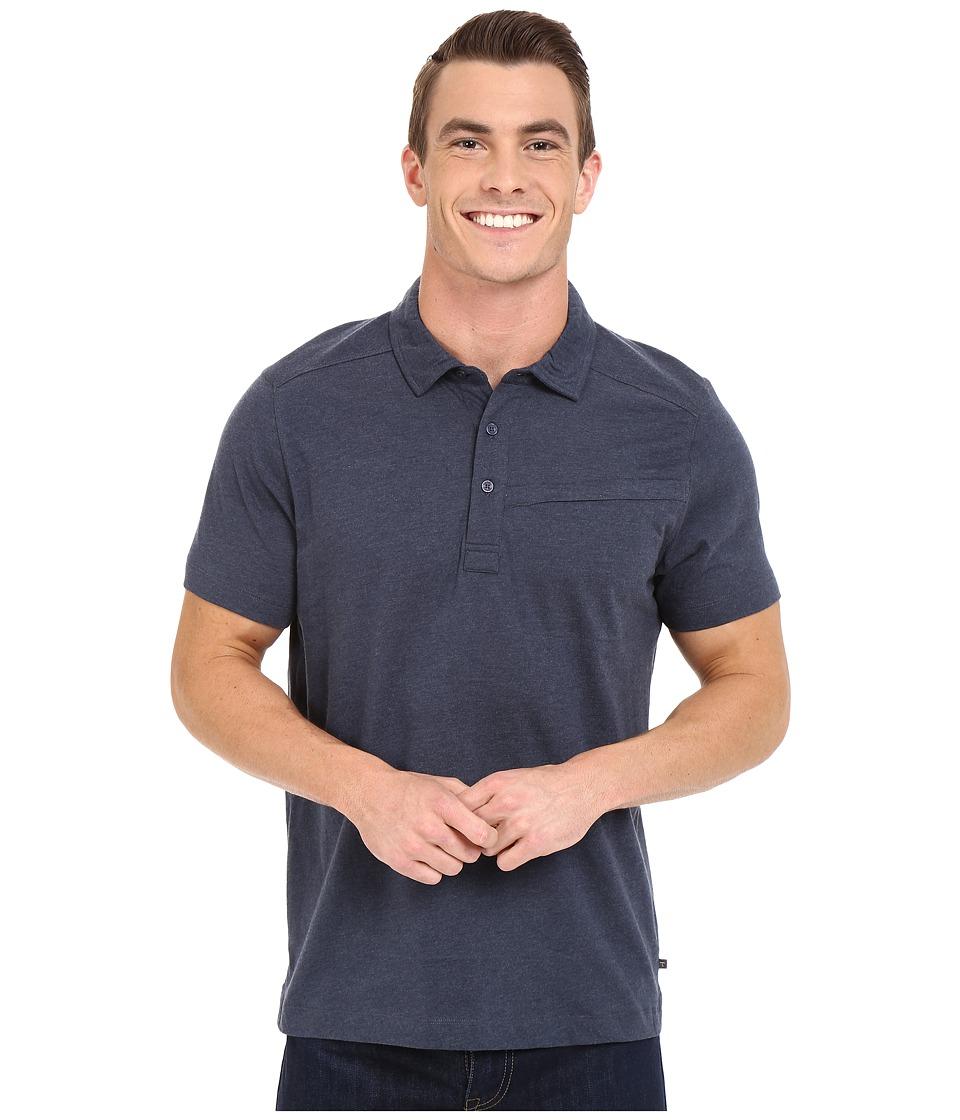 ToadampCo Motile Short Sleeve Polo Shirt Nightsky Mens Short Sleeve Knit