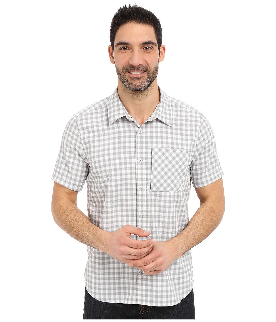 ToadampCo Pilotlight Short Sleeve Shirt Light Ash Mens Short Sleeve Button Up