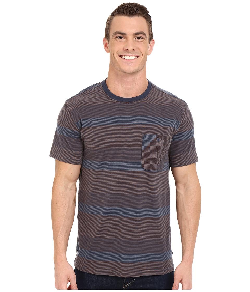 ToadampCo Smooth Stripe Short Sleeve Tee Nightsky Mens Short Sleeve Pullover
