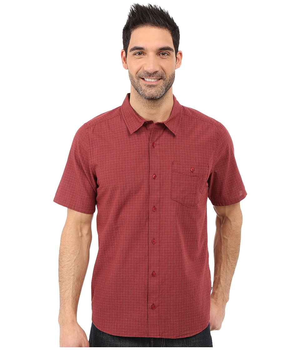 ToadampCo Airbrush S/S Shirt House Red Mens Short Sleeve Button Up