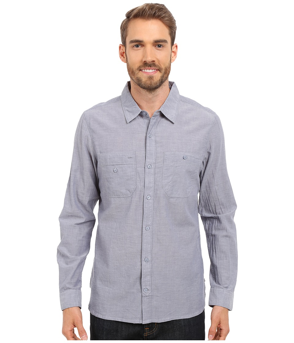 ToadampCo Honcho L/S Shirt Moody Blue Mens Long Sleeve Button Up