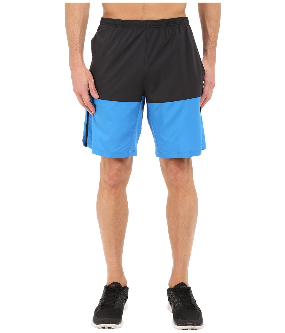 Nike 9 Distance Short Black/Light Photo Blue/Reflective Silver Mens Shorts