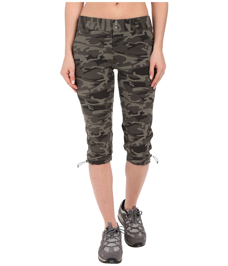 Columbia - Saturday Trailtm Printed Knee Pants (Gravel Camo) Womens Casual Pants