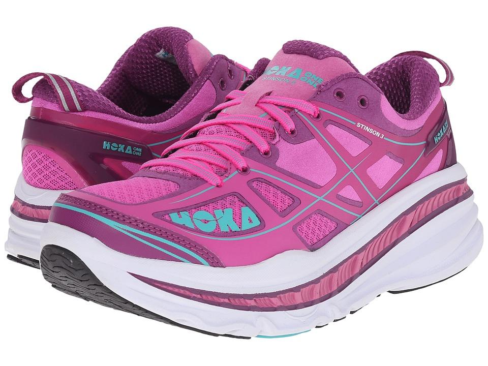 Hoka One One - Stinson 3 (Fuchsia/Byzantium Purple) Womens Running Shoes