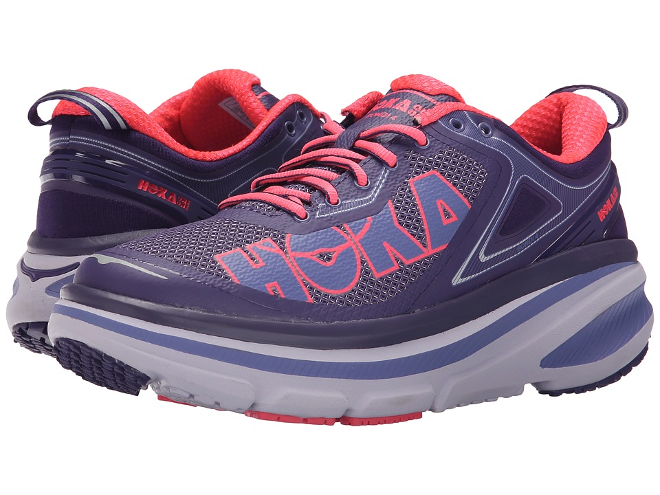 Hoka One One Bondi 4 Mulberry Purple/Neon Pink Womens Running Shoes