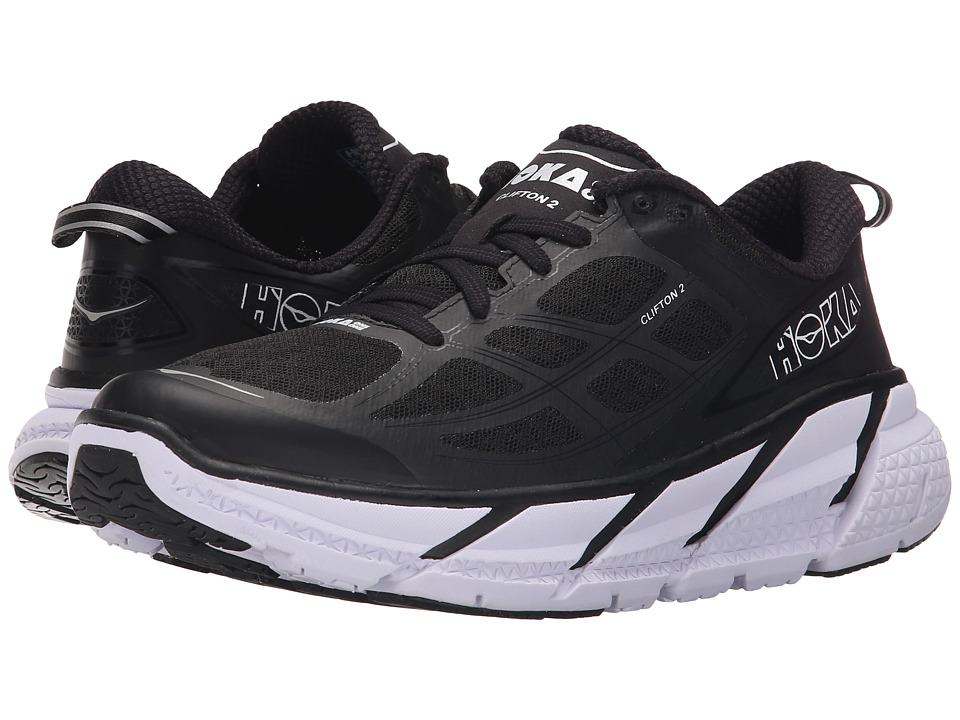 Hoka One One Clifton 2 Black/Anthracite Womens Running Shoes