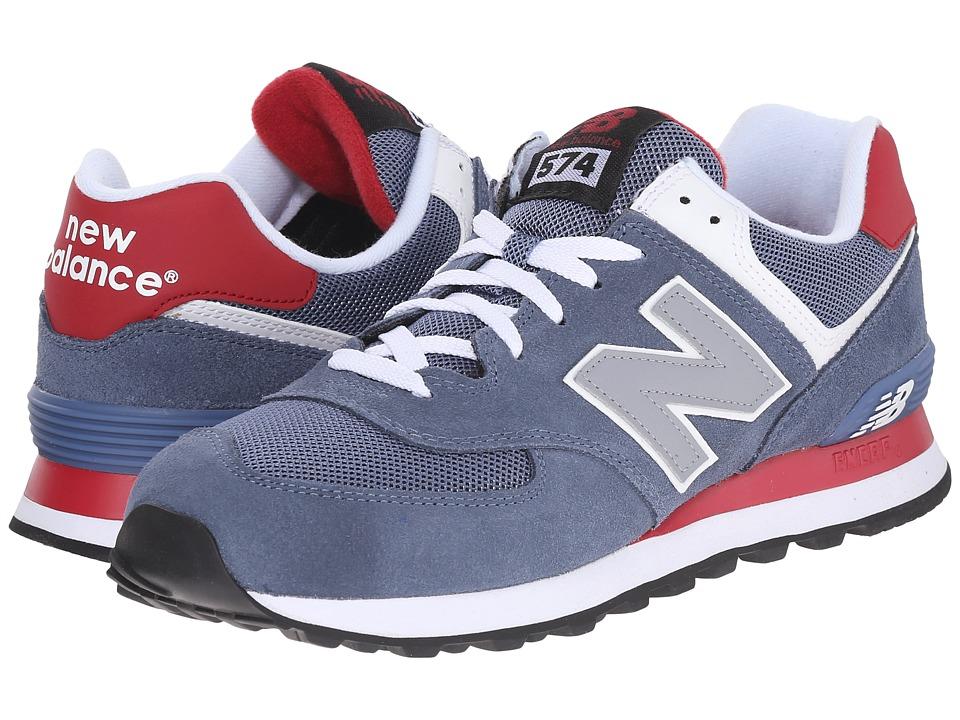 New Balance Classics - ML574 (Blue/Red) Mens Shoes