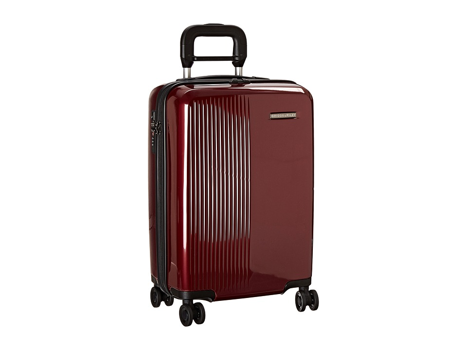 Briggs & Riley - Sympatico - International Carry-On Spinner (Burgundy) Carry on Luggage